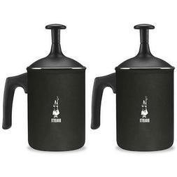 2 x Bialetti Tuttocrema Cappuccino Milk Frother - Black - Al