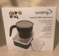 Capresso 202 frothPRO Automatic Milk Frother  Silver Black H