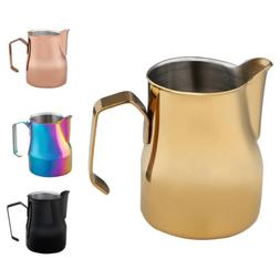 350-750ml Espresso Coffee Milk Frothing Steaming Pitcher Fro