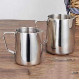 350ml 600ml stainless steel frothing pitcher pull
