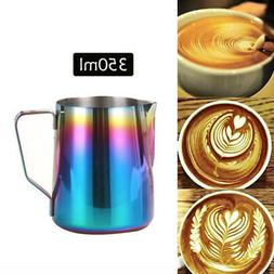 350ml espresso coffee milk frothing steaming pitcher