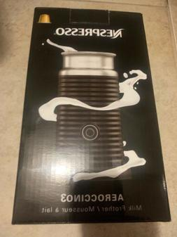 Nespresso 3694-US-BK Aeroccino3 Milk Frother - Black New