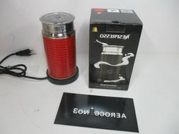Nestle Nespresso  One Size Red Aeroccino3 Milk Maker Frother