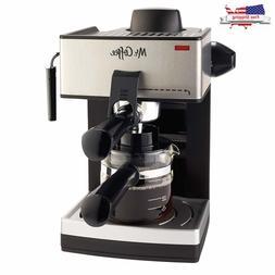 4 Cup Espresso Machine Home Cappuccino Latte Coffee Maker St