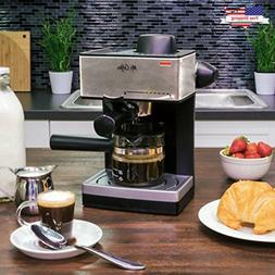 4-Cup Steam Espresso Machine System Cappuccino Coffee Maker