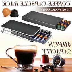 40 Cup For Nespresso Coffee Capsule Holder Bracket Pods Rota
