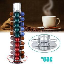 40 Rotating Revolving Capsule Coffee Pod Holder Stand Rack T