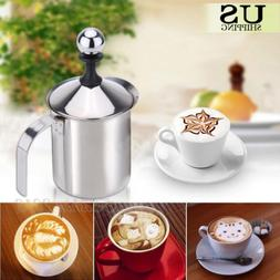 400cc Milk Frother Stainless Steel Coffee Foamer Cappuccino