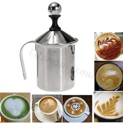 400ML Stainless Steel Pump Milk Frother Cappuccino Coffee Fr