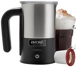 Aroma - Hot Froth X-press Milk Frother - Black/stainless Ste