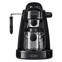 BELLA  Personal Espresso Maker with Built-in Steam Wand, Gla