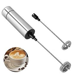 Electric Milk Frother Handheld - Battery Operated Electric F
