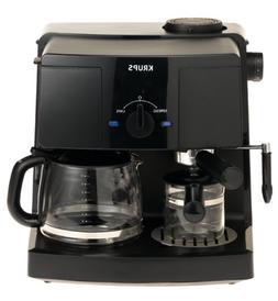 KRUPS XP1500 Coffee Maker and Espresso Machine Combination,