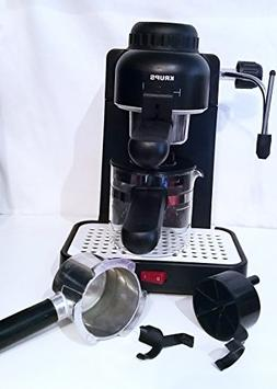 Krups Model 963 Black Espresso / Cappuccino Maker 4 CUP Stea