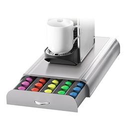 Mind Reader - 50-capsule Nespresso Capsule Drawer - Gray