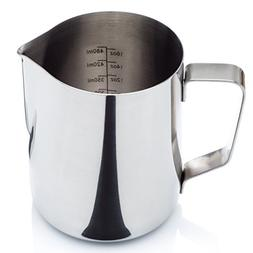 Stainless Steel Milk Frothing Pitcher  with Measurement Mark