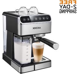 Aicook Espresso Machine Coffee Maker Milk Barista One Touch