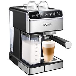 AICOOK Espresso Machine, Barista Espresso Coffee Maker with