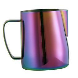 Barista Milk Frother Pitcher Stainless Steel Cup Frothing St