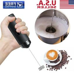 Battery Powered Electric Milk Frother with Stand One Touch H