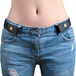 SANSTHS Buckle-Free Elastic Women Belt for Jeans Without Buc