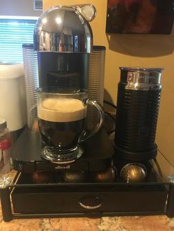 by breville vertuo machine with aeroccino milk