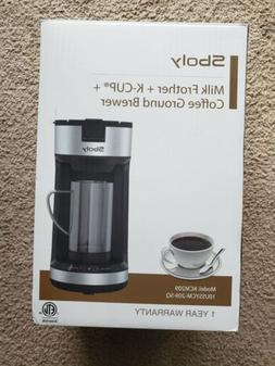 Sboly Coffee Maker, Milk frother + K-Cup + Coffee Ground Bre