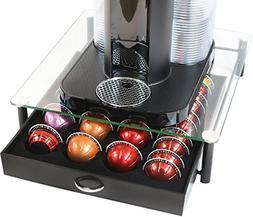 Crystal Tempered Glass Nespresso Vertuoline Storage Drawer H