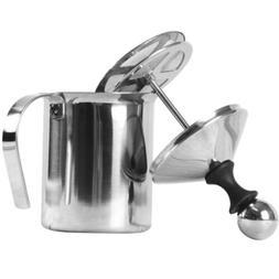 Double Mesh Milk Frother Coffee Bar Foamer Creamer Maker Sli