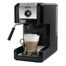 Mr. Coffee Easy Espresso Maker, 6 Piece, Chrome/Black