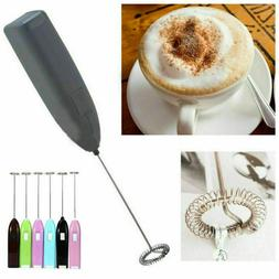 Electric Coffee Milk Frother Foamer Drink Whisk Mixer Egg Be