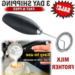 Electric Milk Frother Foam Maker Whisk Mixer Handheld Blende