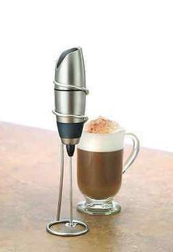 Electric Milk Frother Handheld Coffee Foamer Cordless Latte