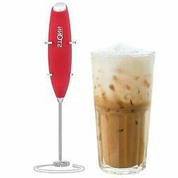 Electric Milk Frother Handheld for Drink Mixer Battery Opera