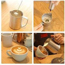 Electric Milk Frother Mixer Hand Foamer for Coffee Latte Cap