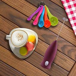 Electric Milk Frothers Handheld Whip Foamer For Coffee, Latt