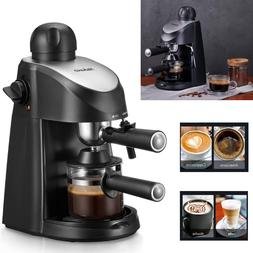 Espresso Cappuccino Coffee Maker Stainless Steel Machine Wit