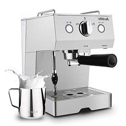 Barsetto Espresso Machine With Milk Frother,Espresso Maker,