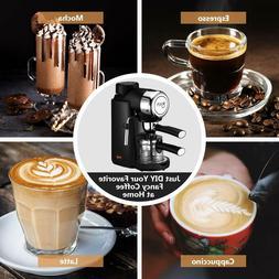 Espresso Machine 3.5 Bar 4Cup Cappuccino Coffee Maker Milk F