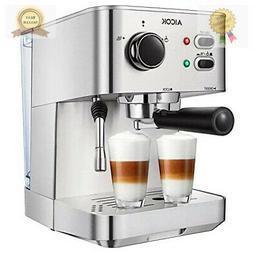 Espresso Machine Cappuccino Coffee Maker with Milk Steamer F
