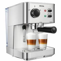 Espresso Machine Aicok Cappuccino Latte Coffee Maker 15 Bar