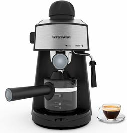 Espresso Maker Machine 4 Cup 3.5 Bar with Steam Milk Frother