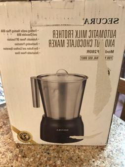 SECURA F280R Electric Stainless Steel Milk Frother & Hot Cho
