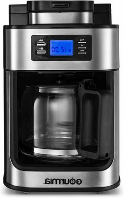 Gourmia GCM4700 Coffee Maker with Grinder 10 Cup Programmabl