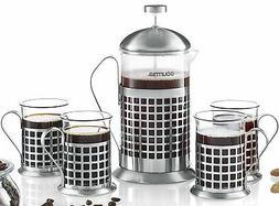 Gourmia GCM9835 French Press Coffee Maker Set 800 ml French