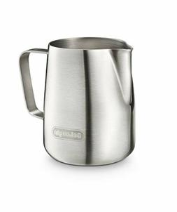 Genuine DeLonghi Brushed Stainless Steel Milk Frothing Jug i
