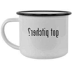 got pitcher? - 12oz Stainless Steel Camping Mug, Black