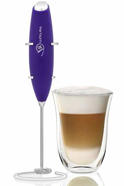Handheld Coffee / Milk Frother by Morhet Stainless Steel Whi