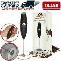 handheld electric milk frother coffee whip foam