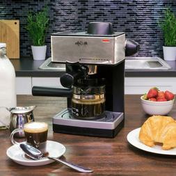 HOME ESPRESSO MACHINE W/ Milk Frother 4 Cup Steam Cappuccino